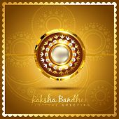 vector shiny golden rakhi background