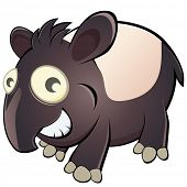 foto of tapir  - funny cartoon tapir - JPG