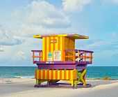 Miami Beach Florida lifeguard house