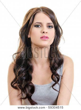 Young Woman Eye Contact