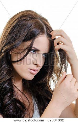 Holding Hair Portrait