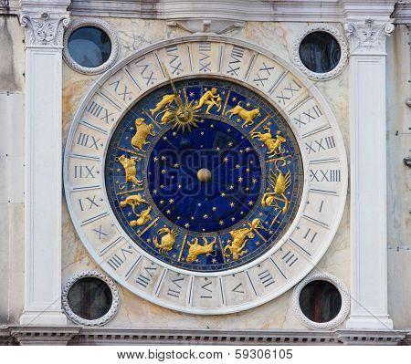 Zodiac Clock In Venice