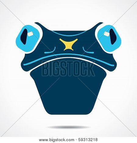 creative frog  face stock vector