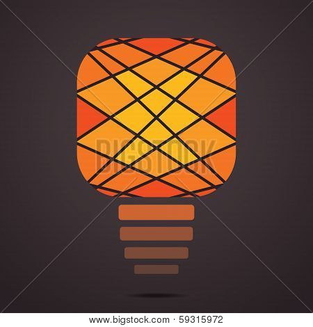 Illustration of creative bulb face stock  vector