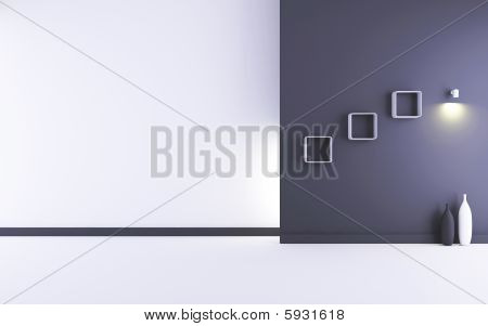 Blank White And Black Wall