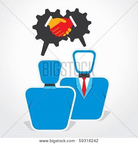 business deal or partnership concept stock vector