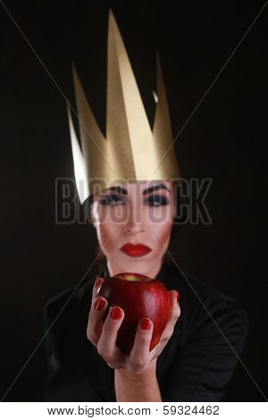Fantasy Villain Character Wearing Golden Crown