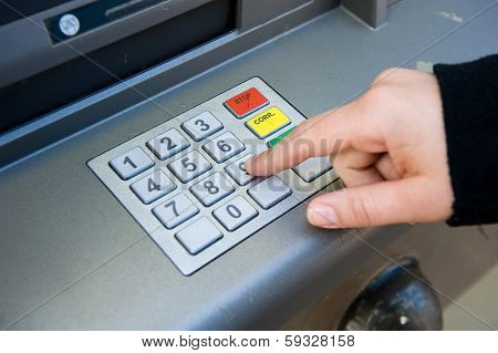 Pin Code At Atm Machine