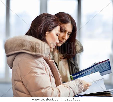 Two Business Woman  In Showroom