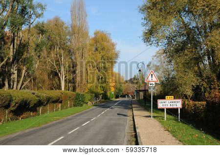 ile de france; landscape of Saint Lambert des Bois
