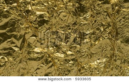 Texture Of Golden Foil