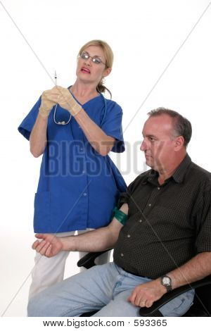Nurse Giving Shot To Patient 1