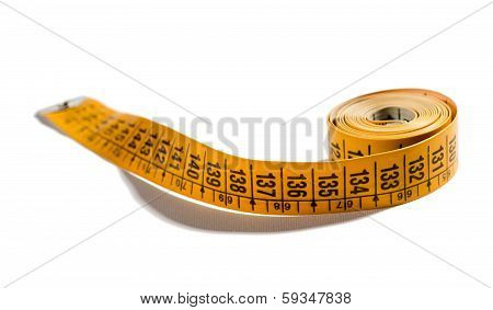 Yellow Measuring Tape Of 60 Inch Or 150 Cm