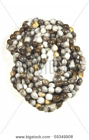 Collection Of Isolated Hand Made Ethnic Zulu Bead Necklaces