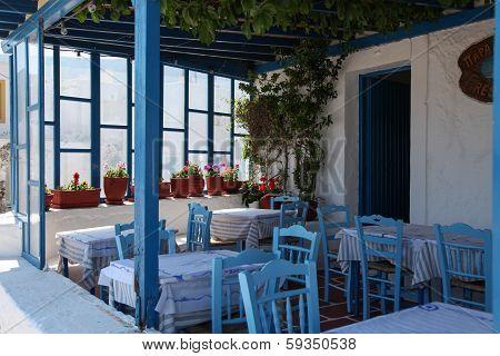 Terrace On Paros Island
