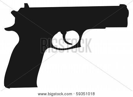 silhouette gun