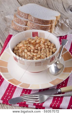 Warm Baked Beans In A Bowl