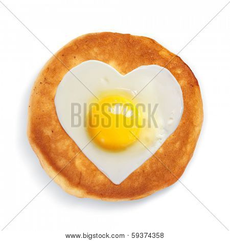 festive snack from scrambled egg taken in natural light isolated on white background