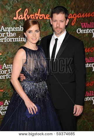 LOS ANGELES - OCT 17:  Amy Adams & Darren Le Gallo arrives to the Wallis Annenberg Center for the Performing Arts Gala  on October 17, 2013 in Beverly Hills, CA