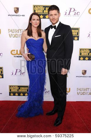 LOS ANGELES - JAN 16:  Jensen Ackles & Danneel Ackles arrives to the Critics' Choice Movie Awards 2014  on January 16, 2014 in Santa Monica, CA