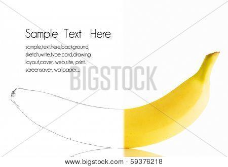 banana drawing card