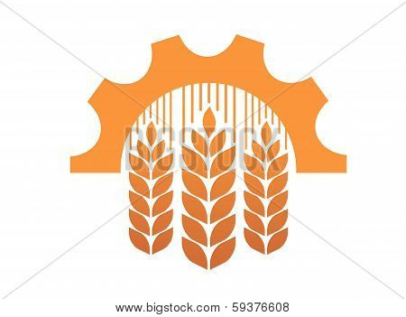 Industry and agriculture symbol