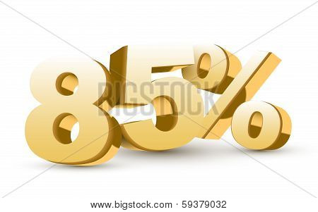 3D Shiny Golden Discount Collection - 85 Percent