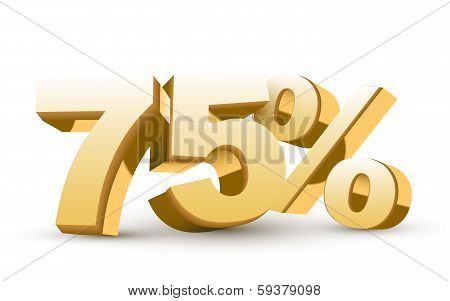 3D Shiny Golden Discount Collection - 75 Percent