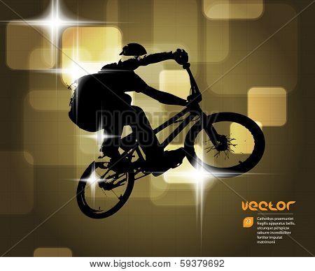 Cycling. Vector illustration