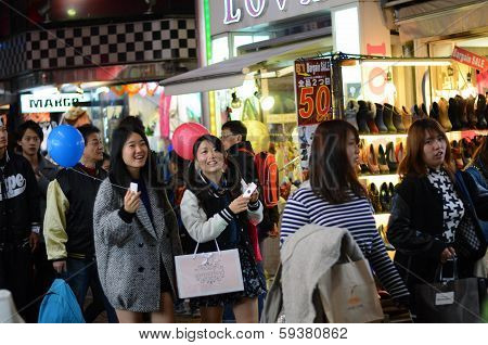Tokyo, Japan - Nov 24 : Crowd At Takeshita Street Harajuku