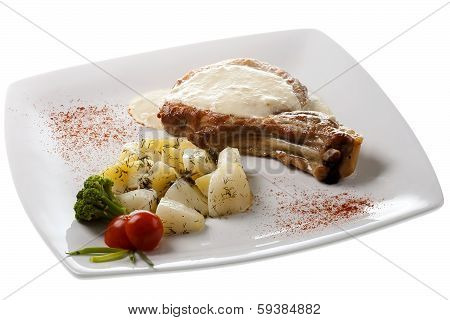 Grilled Pork With Potatoes