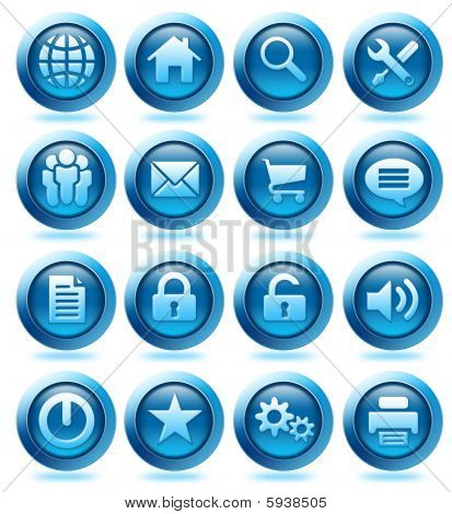 Website Blue Icons