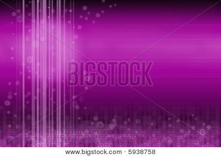 Design: purple futuristic digital with room for content