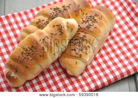 Home made freshly baked German bread rolls