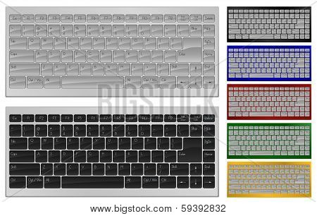 Keyboard with 84 keys