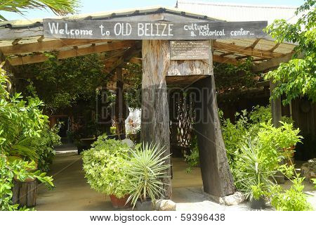 Entrance to Old Belize Museum in Belize City