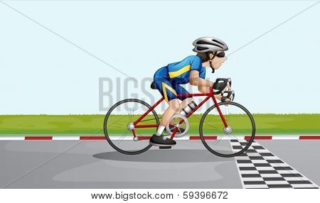 Illustration of a male racer