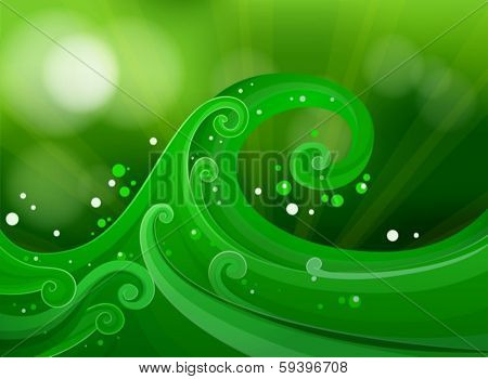 Illustration of a green gradient design