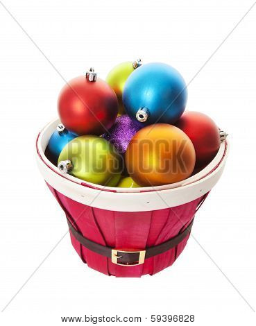 Bulging Basket Of Balls With Clipping Path