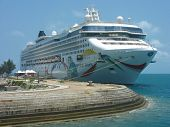 Norwegian Dawn Cruise Ship docked in Bermuda