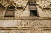 Ornate architecture in the ancient Wikala al-Qutn, the caravanseai (or inn) of cotton at the heart o