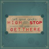 stock photo of letter t  - Set your goals high and don - JPG