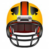 stock photo of ace spades  - Football helmet with ace of spades - JPG