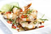 pic of tiger prawn  - Grilled shrimp with garlic - JPG