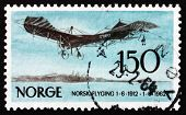 Postage Stamp Norway 1962 German Rumpler Taube, Airplane