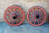 stock photo of wagon  - Wagon wheel  - JPG