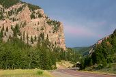 Wyoming Highway In Summer