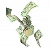 image of save money  - 3D Money Concept with clipping path - JPG