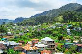 foto of luzon  - View of Village in Cordillera mountains Luzon Philippines - JPG