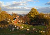 stock photo of marblehead  - One of the oldest New England burial grounds - JPG